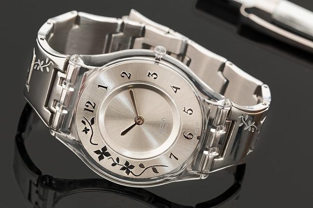 Сребрист дамски часовник